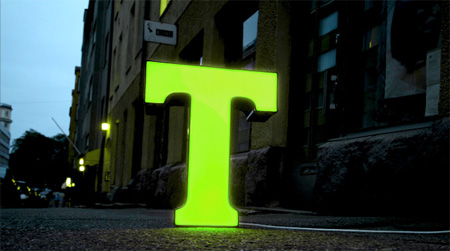 Recycled Typography Lamps by Character 2