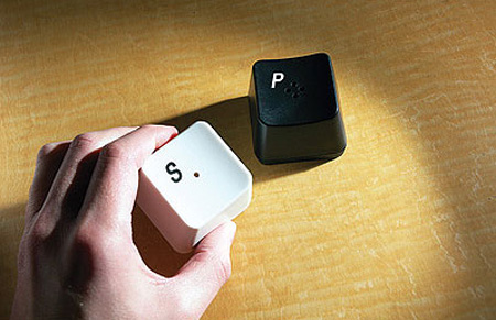 Keyboard Key Salt and Pepper Shakers