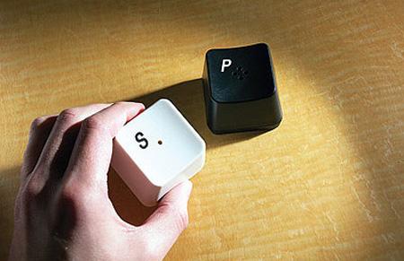 Keyboard Key Salt and Pepper Shakers