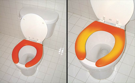 Thermochromic Toilet Seat