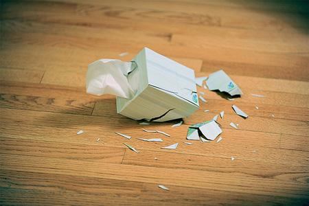 Shattered Tissue Box