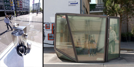 Transparent Public Toilets from Switzerland