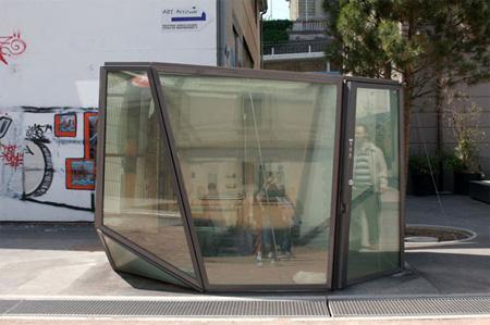 Transparent Public Restroom