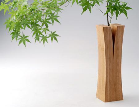 Split Wood Vase