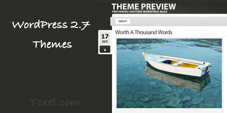 20 High Quality Free WordPress 2.7 Themes