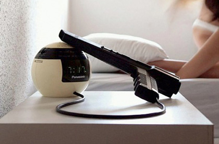 Gun Operated Alarm Clock