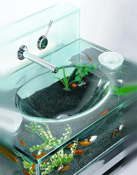 Bathroom Sink Aquarium