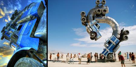 Big Rig Jig Giant Truck Sculpture