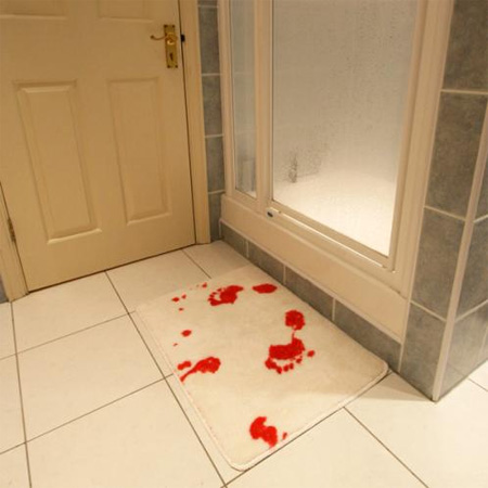 Bloody Bathroom Mat