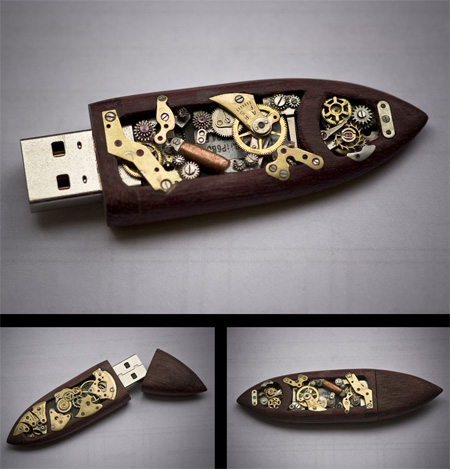 Mechanical USB Flash Drive