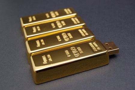 Gold Brick USB Flash Drive