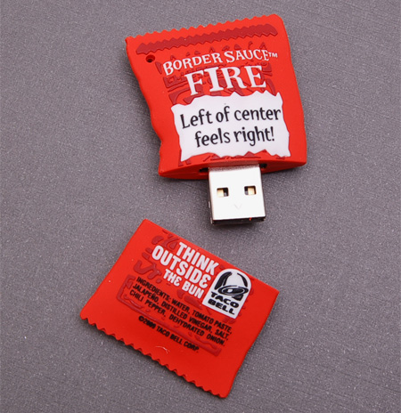 Taco Bell Border Sauce USB Flash Drive
