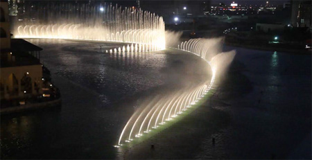 Dancing Fountain in Dubai