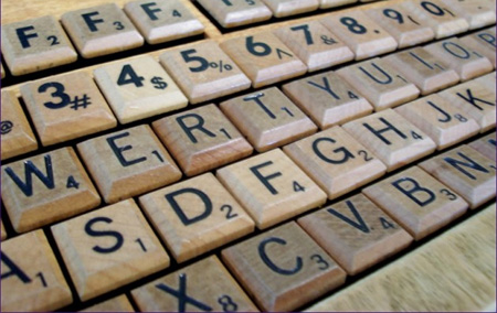 Scrabble Computer Keyboard