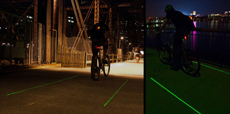 Innovative Laser Bike Lane Concept