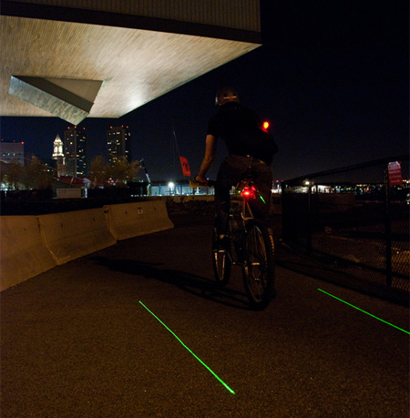 Innovative LightLane Bike Lane Concept 4