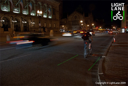Innovative LightLane Bike Lane Concept 5