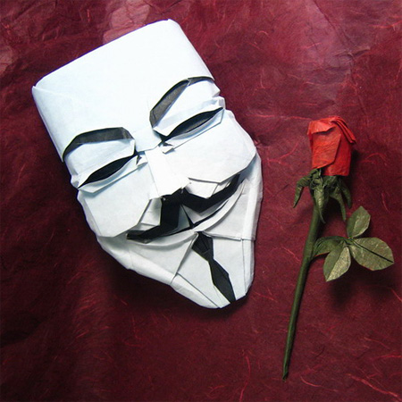 V for Vendetta Mask Origami