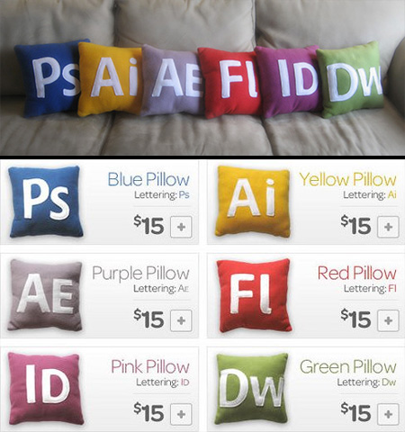 Adobe Icons Pillows