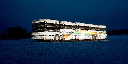 50 Cars 1 Bus Sculpture