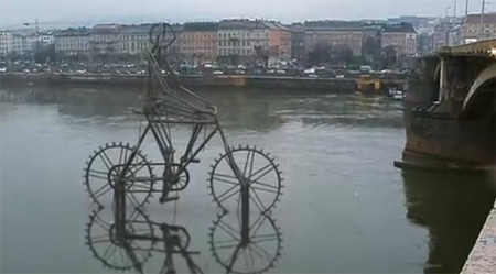 Kinetic Bicycle Sculpture