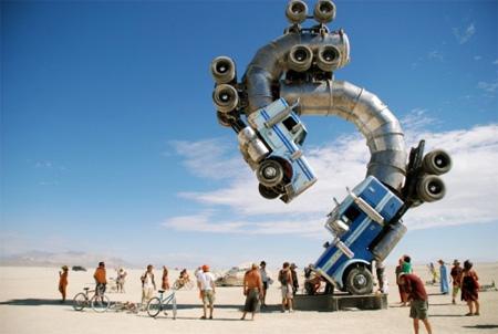 Big Rig Jig Truck Sculpture