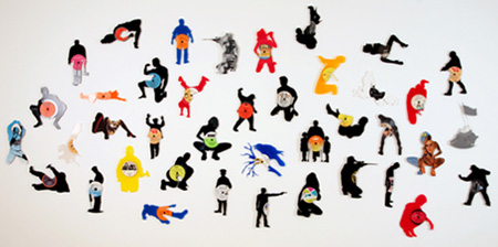 Silhouettes made from Vinyl Records