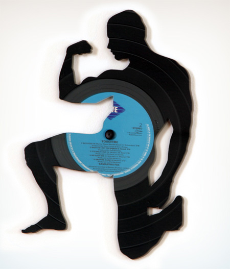Silhouettes made from Vinyl Records 2