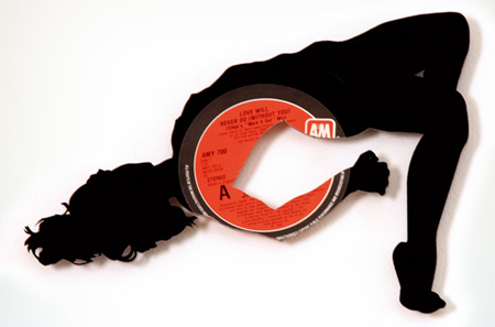 Silhouettes made from Vinyl Records 3