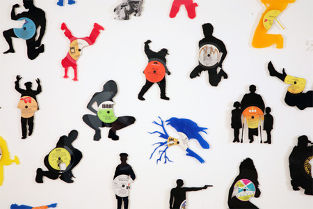 Silhouettes made from Vinyl Records 5