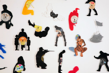 Silhouettes made from Vinyl Records 6