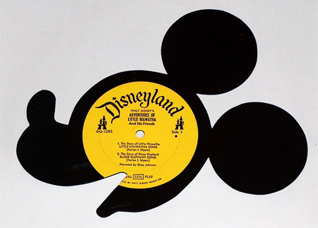 Silhouettes made from Vinyl Records 7