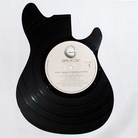 Silhouettes made from Vinyl Records 9