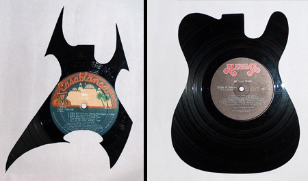 Silhouettes made from Vinyl Records 11
