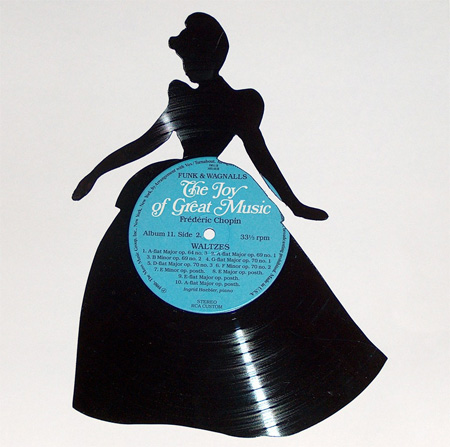 Silhouettes made from Vinyl Records 13