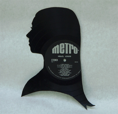 Silhouettes made from Vinyl Records 14