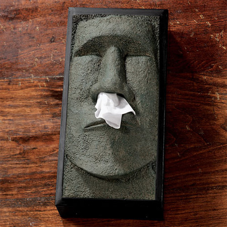 Stone Statue Tissue Box Cover