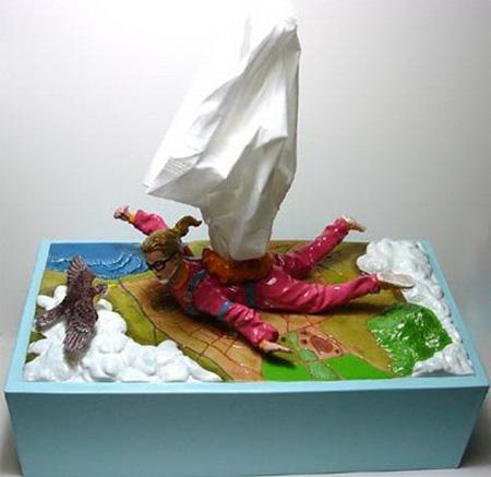 Parachute Tissue Box Cover