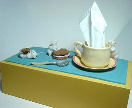 Hot Tea Tissue Box Cover