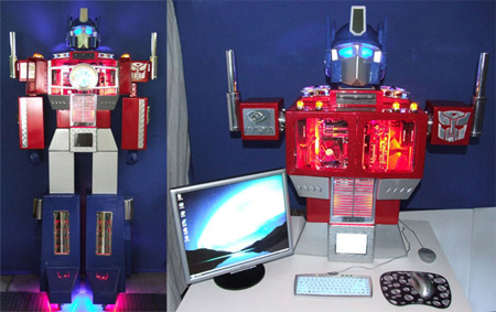 Optimus Prime Computer Case Mod