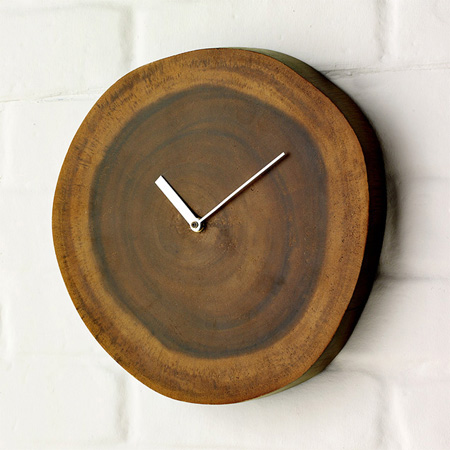 Wood Plinth Clock