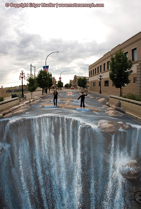 3d pavement art by edgar mueller