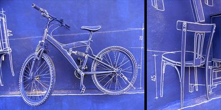 Creative Blueprint Art Installation