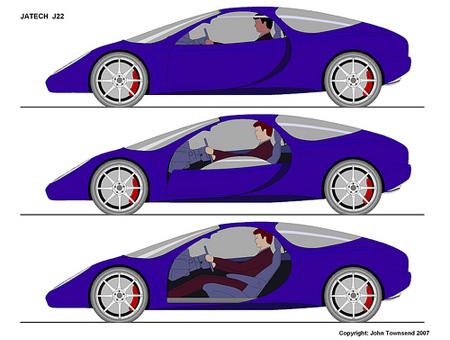 Disappearing Car Door Concept Car