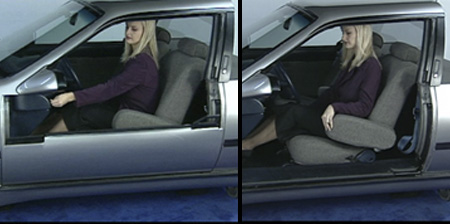 Disappearing Car Door Concept