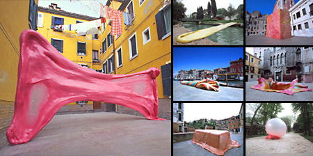 Giant Chewing Gum Sculptures in Venice