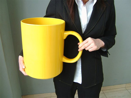 huge coffee cup