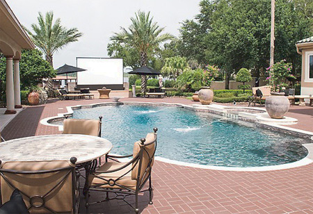 Outdoor Poolside Home Theater