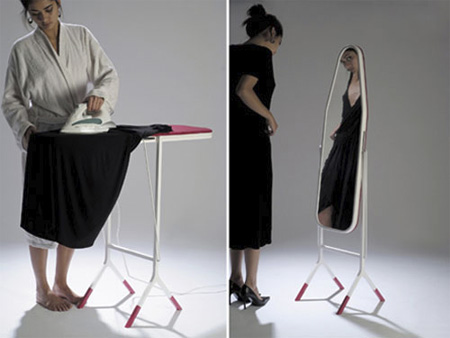Ironing Board Mirror Concept