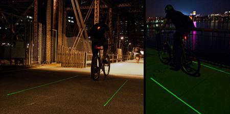 Laser Bike Lane